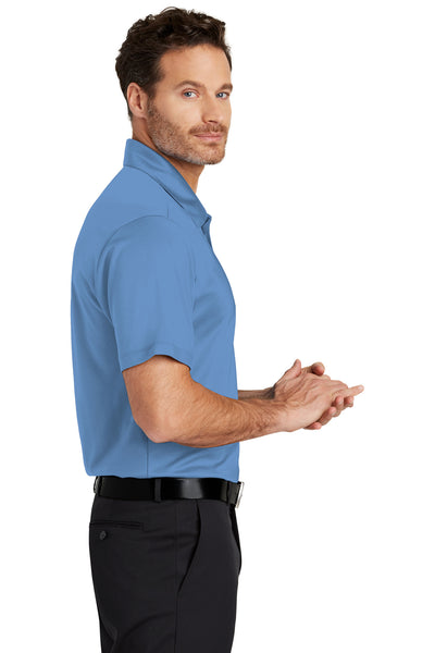 Port Authority K540 Mens Silk Touch Performance Moisture Wicking Short Sleeve Polo Shirt Carolina Blue Side