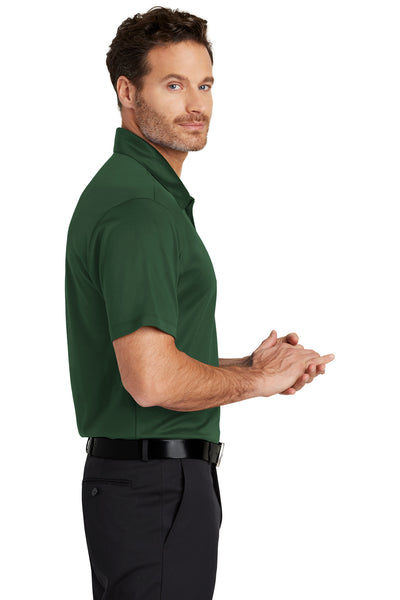 Port Authority K540 Mens Silk Touch Performance Moisture Wicking Short Sleeve Polo Shirt Forest Green Side