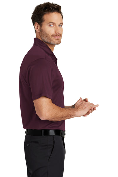 Port Authority K540 Mens Silk Touch Performance Moisture Wicking Short Sleeve Polo Shirt Maroon Side