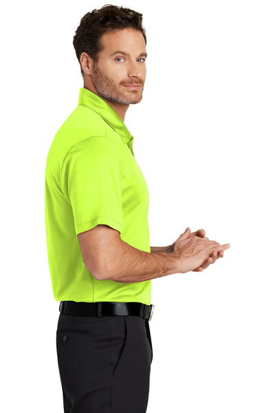 Port Authority K540 Mens Silk Touch Performance Moisture Wicking Short Sleeve Polo Shirt Neon Yellow Side