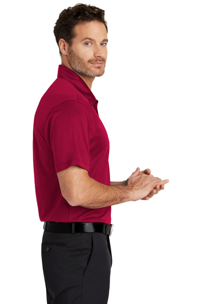 Port Authority K540 Mens Silk Touch Performance Moisture Wicking Short Sleeve Polo Shirt Red Side