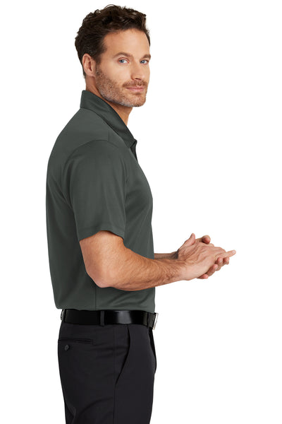 Port Authority K540 Mens Silk Touch Performance Moisture Wicking Short Sleeve Polo Shirt Steel Grey Side
