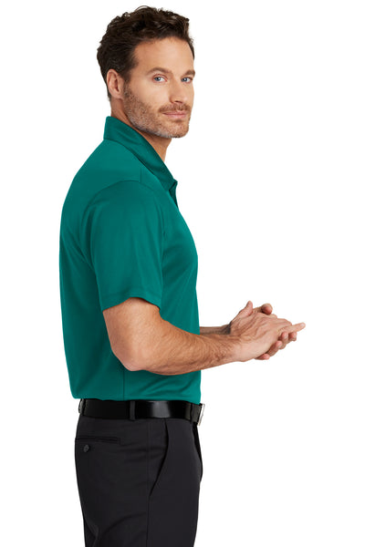 Port Authority K540 Mens Silk Touch Performance Moisture Wicking Short Sleeve Polo Shirt Teal Green Side