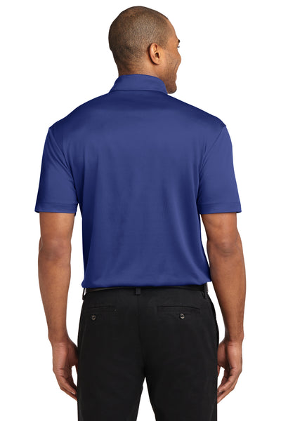 Port Authority K540P Mens Silk Touch Performance Moisture Wicking Short Sleeve Polo Shirt w/ Pocket Royal Blue Back