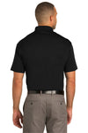 Port Authority K548 Mens Tech Moisture Wicking Short Sleeve Polo Shirt Black Back