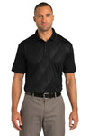 Port Authority K548 Mens Tech Moisture Wicking Short Sleeve Polo Shirt Black Front