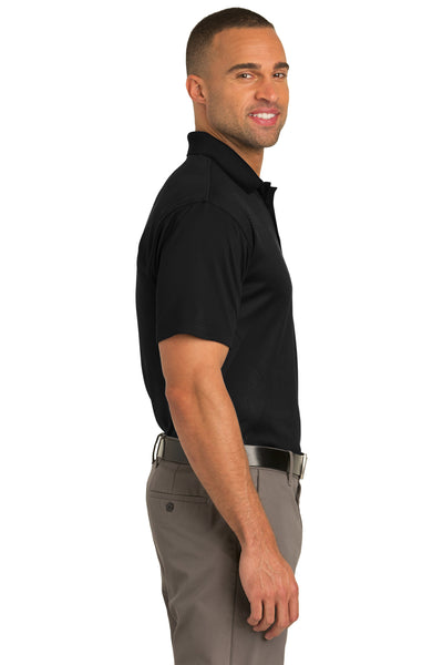 Port Authority K548 Mens Tech Moisture Wicking Short Sleeve Polo Shirt Black Side