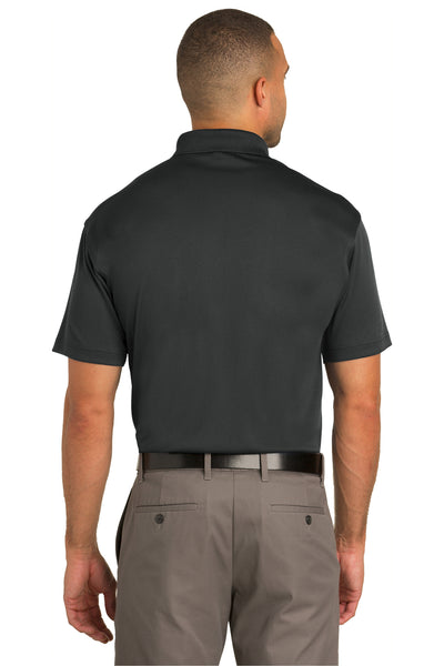 Port Authority K548 Mens Tech Moisture Wicking Short Sleeve Polo Shirt Graphite Grey Back