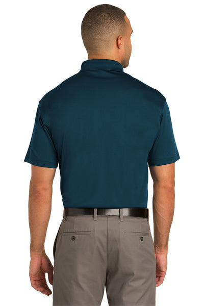 Port Authority K548 Mens Tech Moisture Wicking Short Sleeve Polo Shirt Poseidon Blue Back