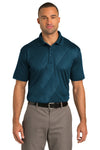 Port Authority K548 Mens Tech Moisture Wicking Short Sleeve Polo Shirt Poseidon Blue Front