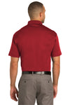 Port Authority K548 Mens Tech Moisture Wicking Short Sleeve Polo Shirt Red Back