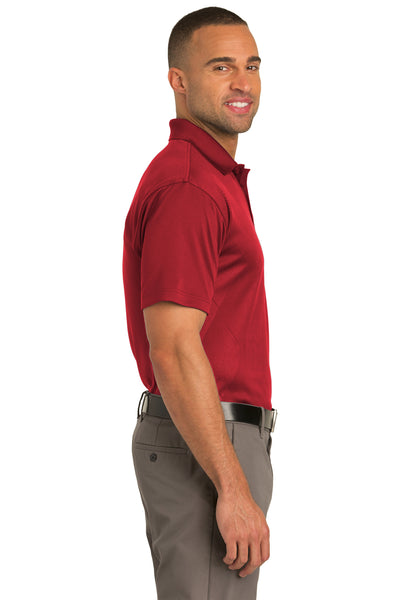 Port Authority K548 Mens Tech Moisture Wicking Short Sleeve Polo Shirt Red Side