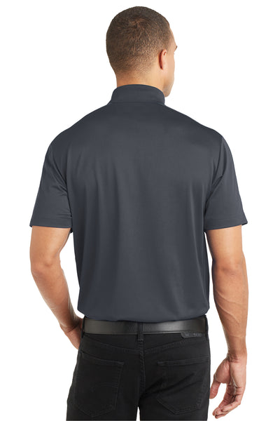 Port Authority K569 Mens Moisture Wicking Short Sleeve Polo Shirt Graphite Grey Back