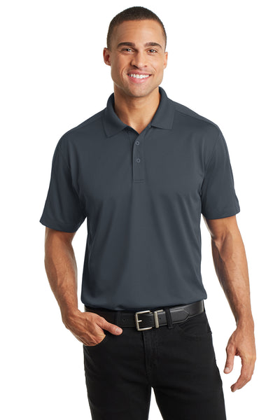 Port Authority K569 Mens Moisture Wicking Short Sleeve Polo Shirt Graphite Grey Front