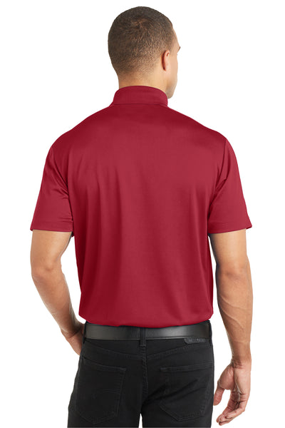 Port Authority K569 Mens Moisture Wicking Short Sleeve Polo Shirt Red Back