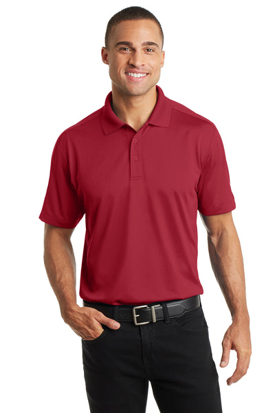 Port Authority K569 Mens Moisture Wicking Short Sleeve Polo Shirt Red Front