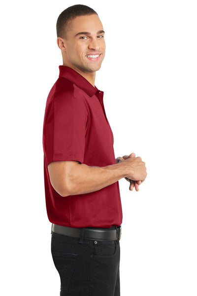Port Authority K569 Mens Moisture Wicking Short Sleeve Polo Shirt Red Side