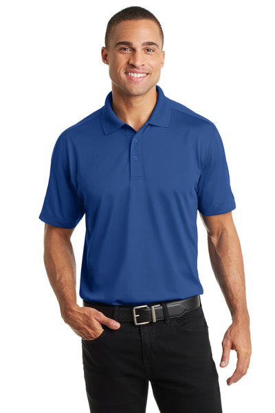 Port Authority K569 Mens Moisture Wicking Short Sleeve Polo Shirt Blue Front