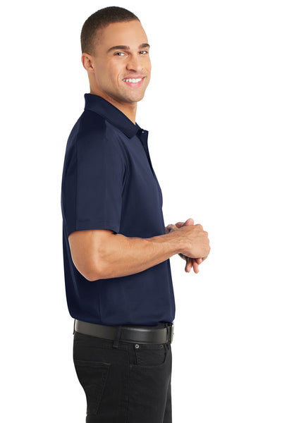 Port Authority K569 Mens Moisture Wicking Short Sleeve Polo Shirt Navy Blue Side