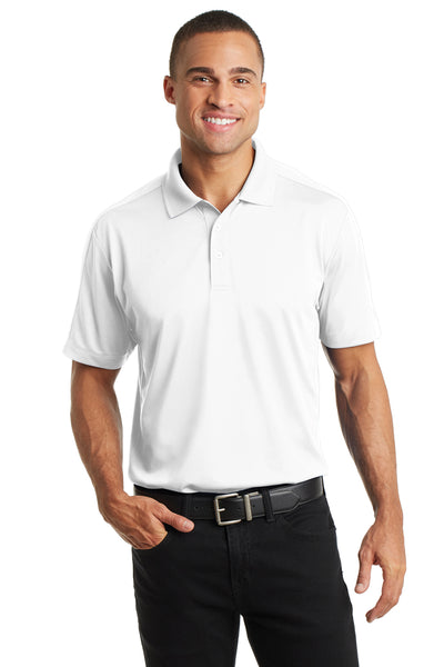 Port Authority K569 Mens Moisture Wicking Short Sleeve Polo Shirt White Front