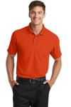 Port Authority K572 Mens Dry Zone Moisture Wicking Short Sleeve Polo Shirt Autumn Orange Front