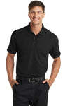 Port Authority K572 Mens Dry Zone Moisture Wicking Short Sleeve Polo Shirt Black Front