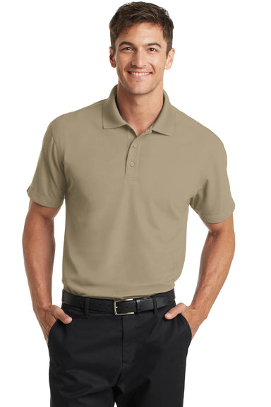 Port Authority K572 Mens Dry Zone Moisture Wicking Short Sleeve Polo Shirt Tan Brown Front