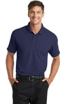 Port Authority K572 Mens Dry Zone Moisture Wicking Short Sleeve Polo Shirt Navy Blue Front