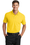 Port Authority K572 Mens Dry Zone Moisture Wicking Short Sleeve Polo Shirt Yellow Front