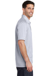 Port Authority K574 Mens Digi Heather Performance Moisture Wicking Short Sleeve Polo Shirt Light Grey Side