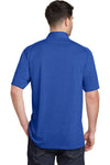 Port Authority K574 Mens Digi Heather Performance Moisture Wicking Short Sleeve Polo Shirt Royal Blue Back