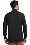 Port Authority K8000LS Mens Wrinkle Resistant Long Sleeve Polo Shirt Black Back
