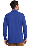 Port Authority K8000LS Mens Wrinkle Resistant Long Sleeve Polo Shirt Royal Blue Back