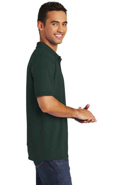 Port & Company KP55 Mens Core Stain Resistant Short Sleeve Polo Shirt Dark Green Side