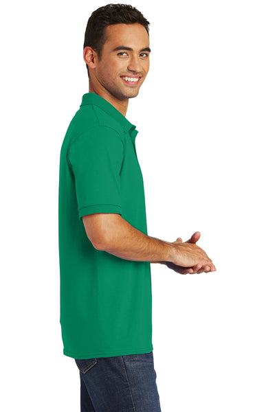 Port & Company KP55 Mens Core Stain Resistant Short Sleeve Polo Shirt Kelly Green Side