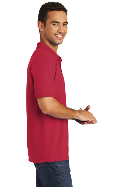 Port & Company KP55 Mens Core Stain Resistant Short Sleeve Polo Shirt Red Side