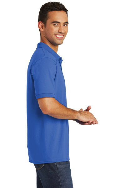 Port & Company KP55 Mens Core Stain Resistant Short Sleeve Polo Shirt Royal Blue Side