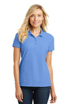 Port Authority L100 Womens Core Classic Short Sleeve Polo Shirt Carolina Blue Front