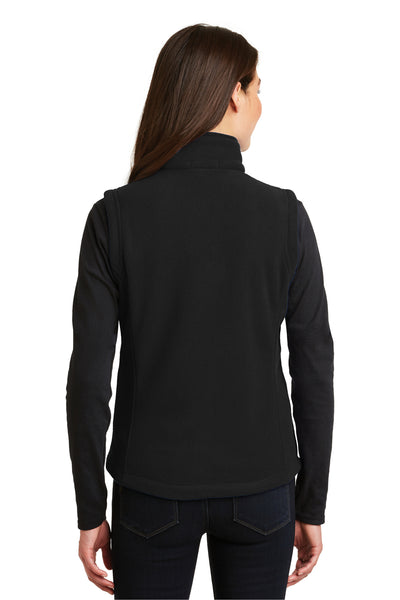 Port Authority L219 Womens Full Zip Fleece Vest Black Back