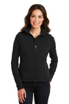 Port Authority L219 Womens Full Zip Fleece Vest Black Front