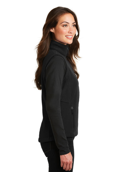 Port Authority L219 Womens Full Zip Fleece Vest Black Side