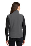 Port Authority L219 Womens Full Zip Fleece Vest Iron Grey Back