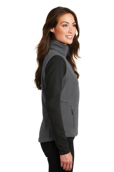 Port Authority L219 Womens Full Zip Fleece Vest Iron Grey Side