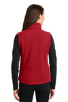 Port Authority L219 Womens Full Zip Fleece Vest Red Back