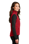 Port Authority L219 Womens Full Zip Fleece Vest Red Side