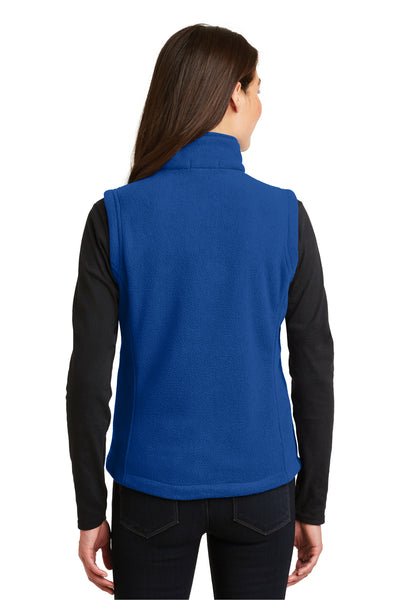 Port Authority L219 Womens Full Zip Fleece Vest Royal Blue Back