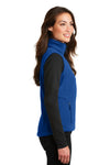 Port Authority L219 Womens Full Zip Fleece Vest Royal Blue Side