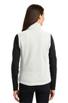 Port Authority L219 Womens Full Zip Fleece Vest White Back