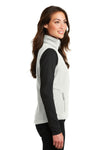Port Authority L219 Womens Full Zip Fleece Vest White Side