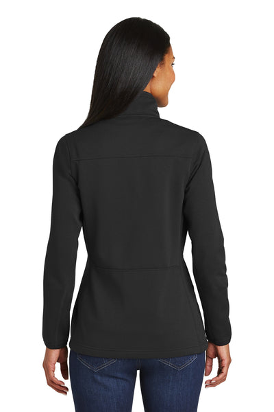 Port Authority L222 Womens Full Zip Fleece Jacket Black Back